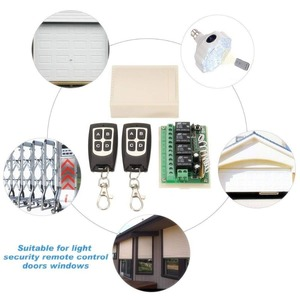Image 5 - Wireless Remote Control RF Switch 433mhz DC 12V 4CH 4 Channel Wireless Remote Control Switch Relay Receiver Module Transmitter