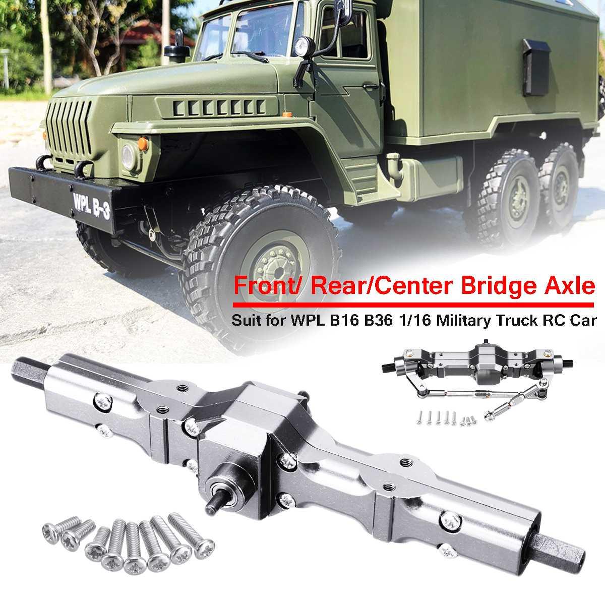 Спереди/сзади/Мост ось часть Набор заменить обновления для WPL 1/16 B16 B36 6WD военный грузовик RC автомобиль Запчасти Алюминий сплава, прочный