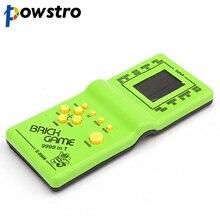 Powstro Tetris Hand elektroniczny lcd zabawki zabawna gra cegła Puzzle Puzzle przenośna konsola do gier