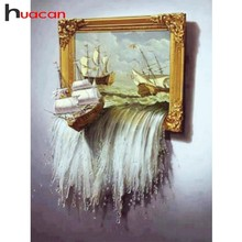 Huacan DIY 5D Diamond Painting Full Square Scenery Diamond Embroidery Sale Ship Diamond Mosaic Cross Stitch Landscape
