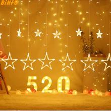 Christmas Lights  Romantic Fairy Star LED Holiday Lighting Curtain String Lighting for Holiday Wedding Garland Party Decoration