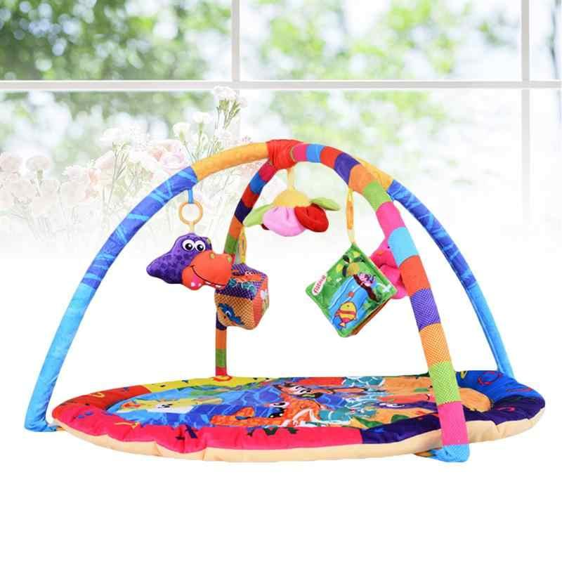 1 шт. детский коврик для ползания развивающий мультяшный спортзал милый коврик для ползания игровой коврик фитнес-рамка 95x80x50 см игровые коврики