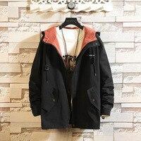 272856a23 2949 Spring Hooded Jacket Men Loose Cotton Streetwear Bomber Jackets Zipper  Windbreaker Teenagers Japanese Style