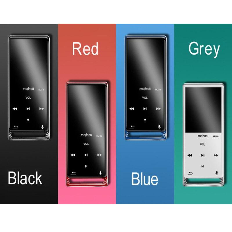 HD enregistrement vocal Bluetooth MP3 lecteur de musique Portable baladeur 16G mémoire 4 couleurs prise en charge 128 GB SD Expansion 1.8 pouces écran