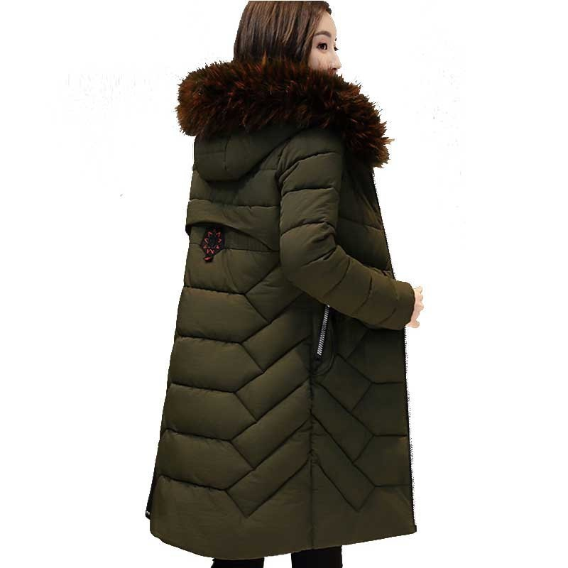 Plus size Winter Down cotton jacket women Camperas mujer abrigo invierno 2018 new Fashion Hooded Thick long coat female   parkas