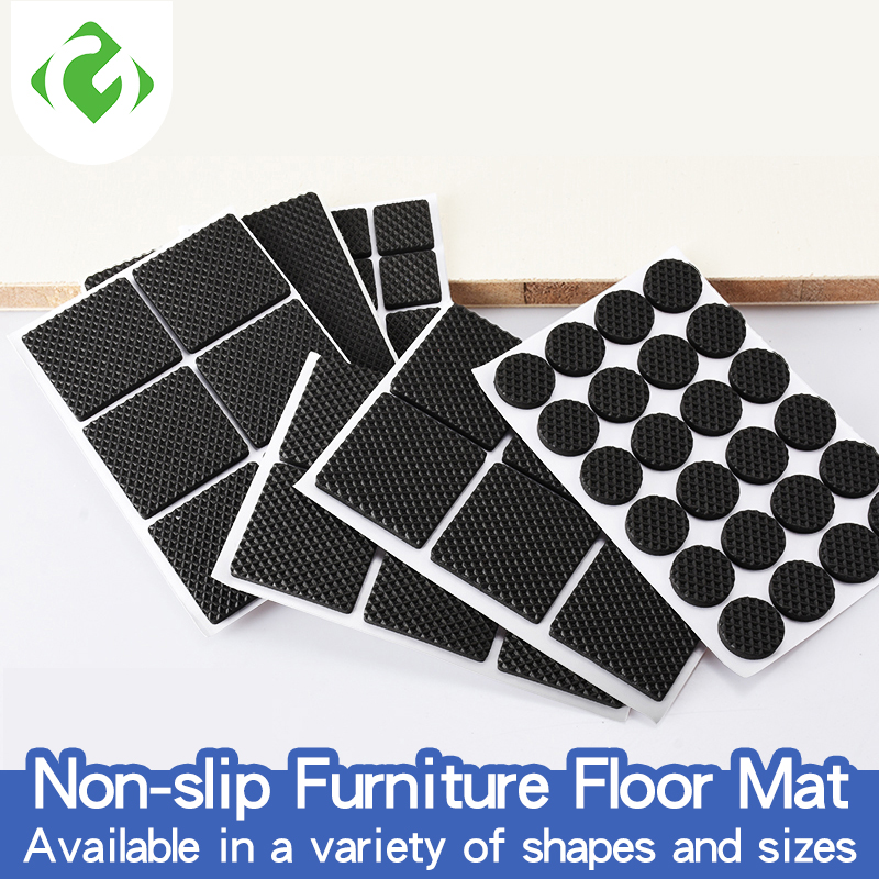 GUANYAO Non-slip Furniture Floor Mat Bumper Damper For Chair Protector Hardwarefloor Protection Mat Self Adhesive Furniture Legs