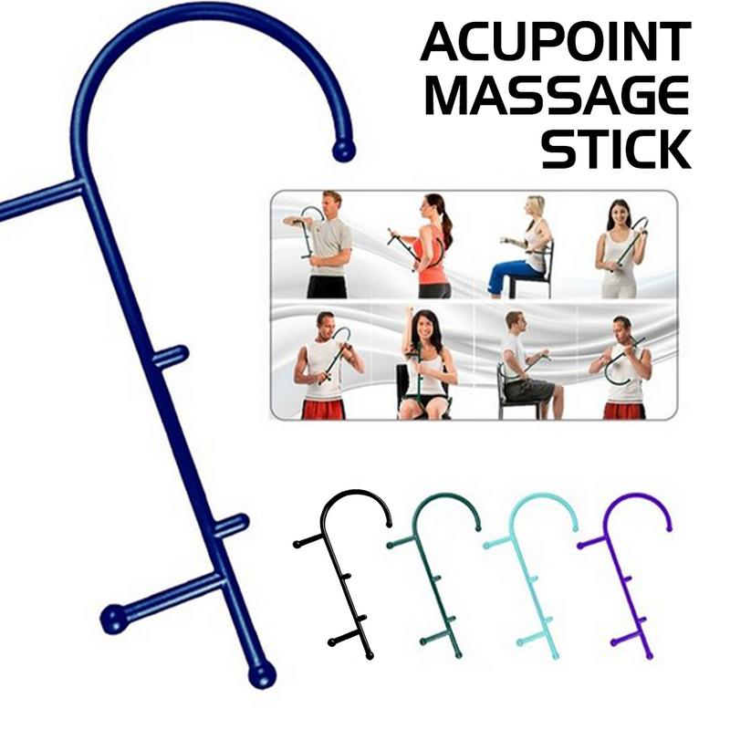 Full Body Cane Back Hook Massager Neck Self Muscle Pressure Stick Tool Acupoint Massage Stick Trigger Point Pressure MassagerFull Body Cane Back Hook Massager Neck Self Muscle Pressure Stick Tool Acupoint Massage Stick Trigger Point Pressure Massager