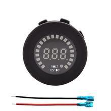 Вольтметр для мотоциклов Светодиодный Индикатор прибора 5~ 15 В DC напряжение мониторы 4.2A USB мощность вилка адаптера зарядного устройства метро вольтметр разъем