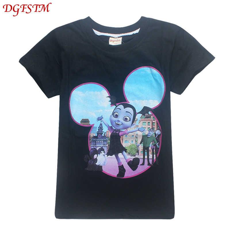 5b76909fd ... 2019 summer Vampirina girls Short sleeve T-shirt boys and girls cartoon  printing cute tops