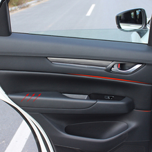 Microfiber Leather Interior Car Styling Door Panel Covers Trim For Mazda CX-5 2017 2018