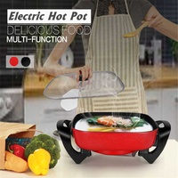 220V 1300W 6L Electric Non stick Multi functional Household Heat Cooker Roast Pots Dormitory Frying Pan Korean Barbecue Grill