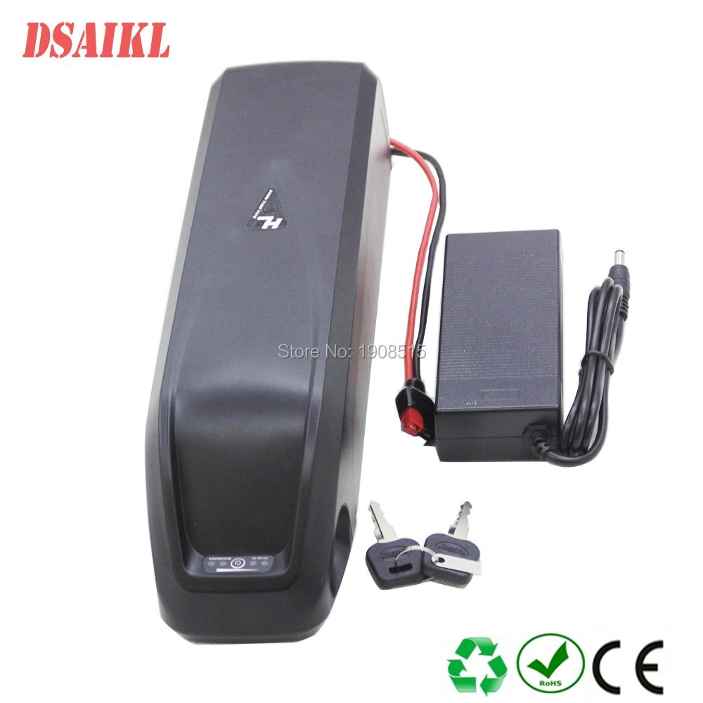 Купить с кэшбэком Ebike battery pack 48V 14Ah use 13S4P 18650 Sanyo GA power cells for 500W 750W 1000W fat tire ebike