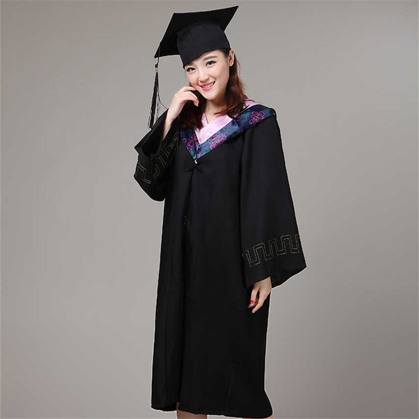 2ed3732bf23 ... 6Style University Graduation Gown Student High School Uniforms Class  Team Wear Academic Dress for Adult Bachelor