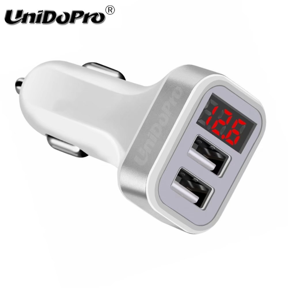 5V 2.1A 2USB Car Charger w/ LED Screen Smart Charging