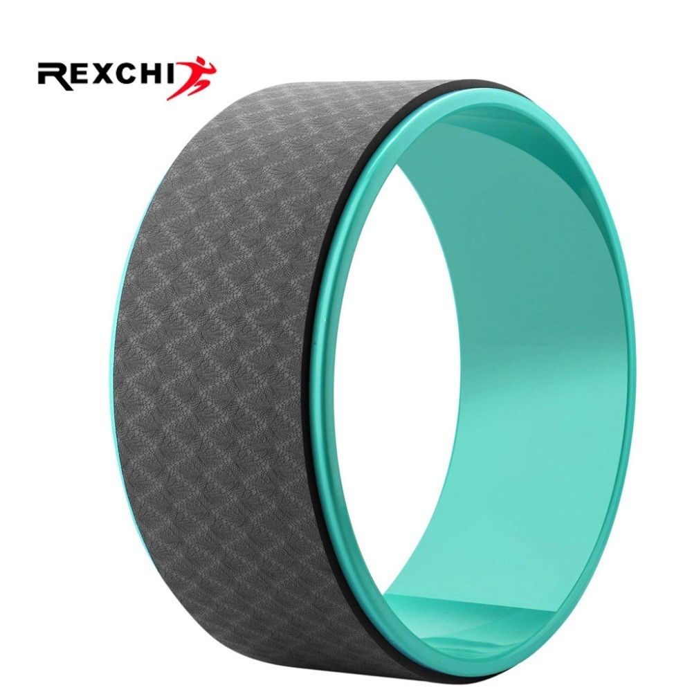 REXCHI Yoga Wheel Circle Gym Fitness Crossfit Loop Waist Shape Yoga Pilates Bodybulding Exercise Workout Training Accessories