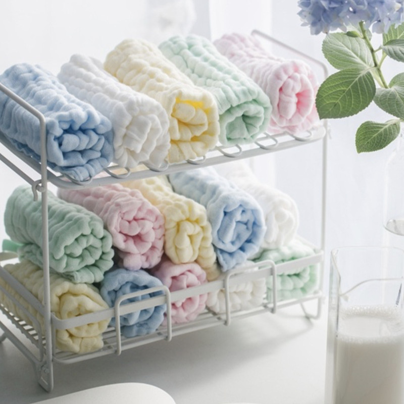 5pcs/lot Baby Handkerchief Square Baby Face Towel 28x28cm Muslin Cotton Infant Face Towel Wipe Cloth