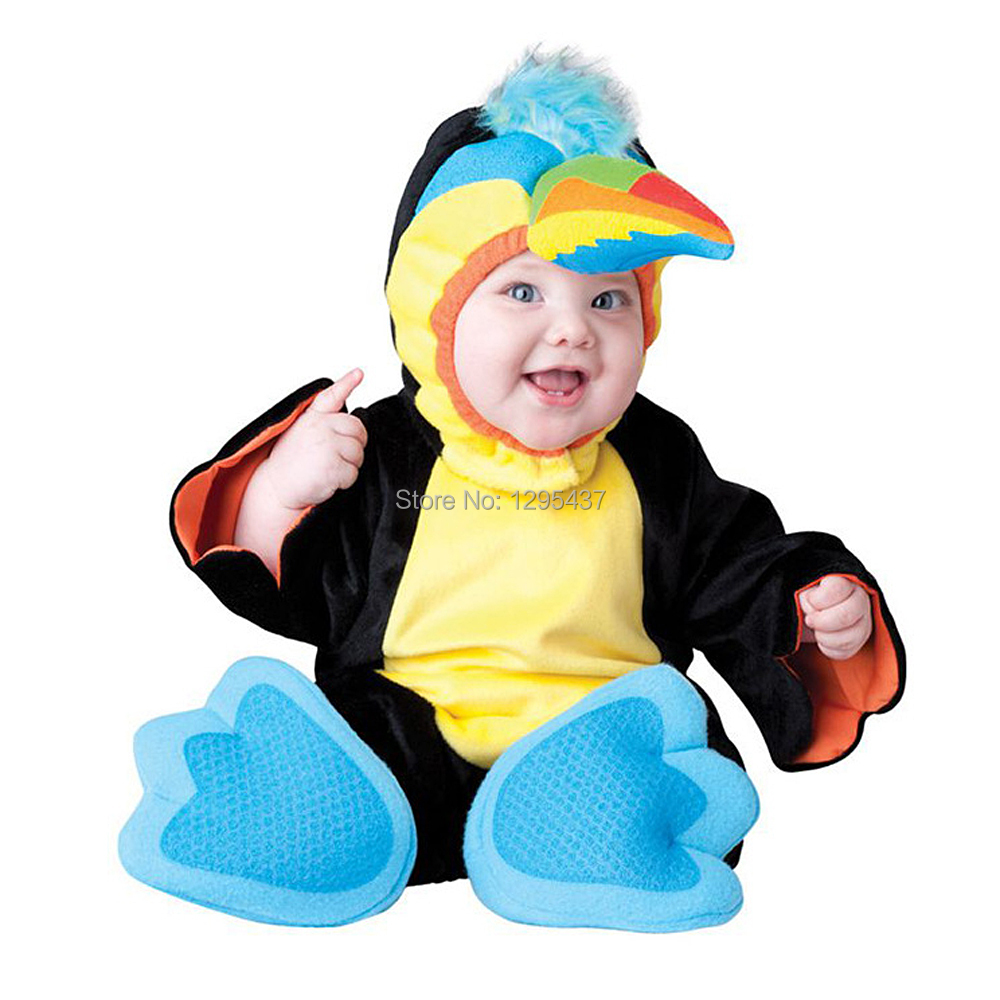3c319e38e New Infant Toddler Baby Boys Girls Bird Parrot Cosplay Carnival Halloween  Dress up Outfits Purim Holiday