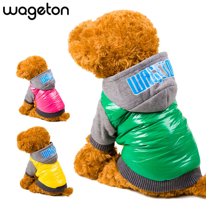 Dog Clothes Hoodie Winter Wageton Dogs Jacket Warm Pet Coat Clothing Puppy Costume for Small Dogs Puppies Cats Outfits Chihuahua