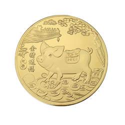 2019 год свиньи Позолоченные памятная монета золотой свиньи благословение памятная монета