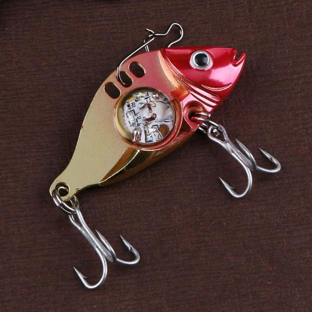 LED Fishing Lure Treble Hook Electronic Bait Fish Lure Light Fishing Bait Metal Lure Flash Flashing Lamp Fishing Accessories 3