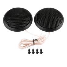 Black 20W Mini Car Speaker Audio Round S