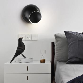 5 ワット Led ウォールランプ 360 度回転調整可能ムーンランプクリエイティブ現代燭台ウォールライト回廊通路階段ライト