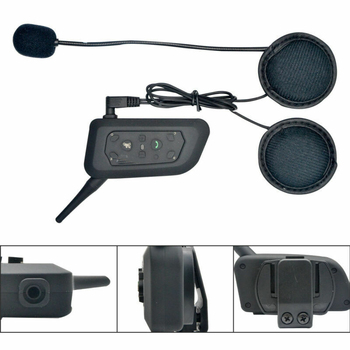 2X1.2KM DSP Bluetooth Motorbike Motorcycle Helmet Interphone Intercom Headset FM