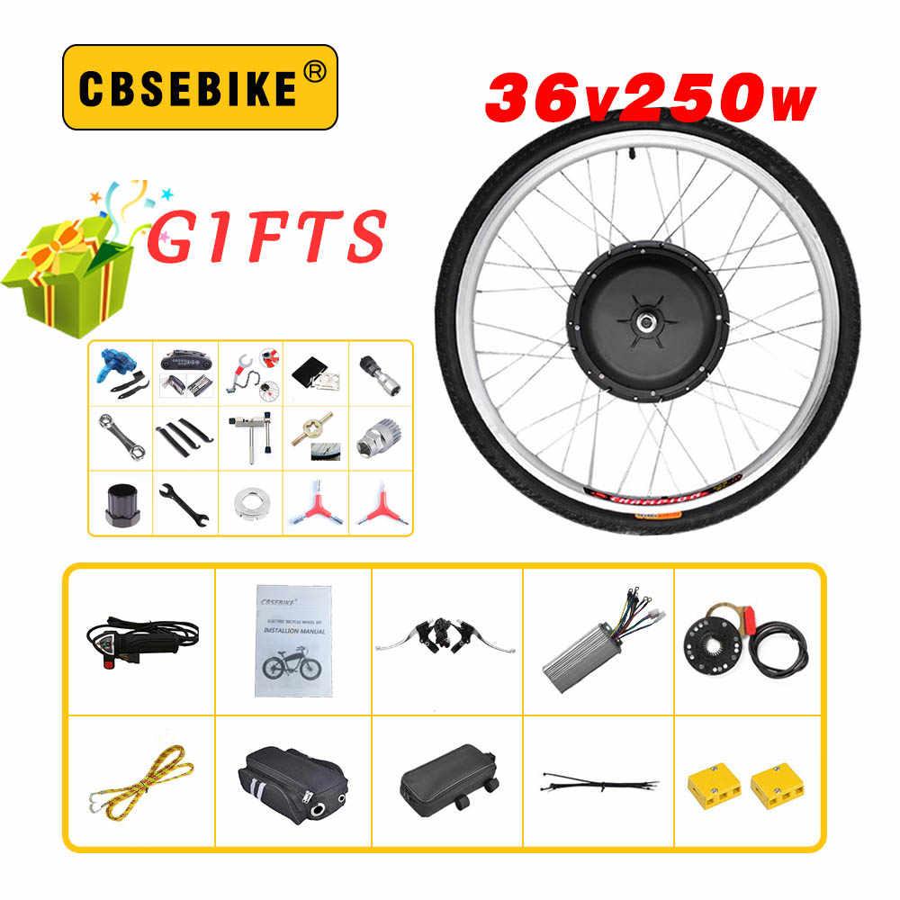 CBSEBIKE Байк, способный преодолевать Броды Conversion Kit 36V 250W 20 24 26 28 29 дюймов 700c Передний Мотор колесо для электровелосипеда комплект электровелосипед Электрический велосипед HC02
