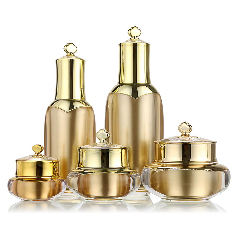 5 Size Empty Cream Bottle Crown Shape Plastic Refillable Makeup Jar Pot Travel Cream Lotion Cosmetic Container M02399