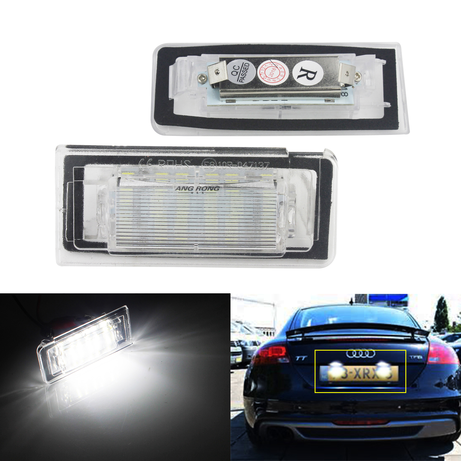 SUPER BRIGHT Audi A4 B5 2000-2006 LED NUMBER PLATE BULBS LIGHTS CANBUS SMD