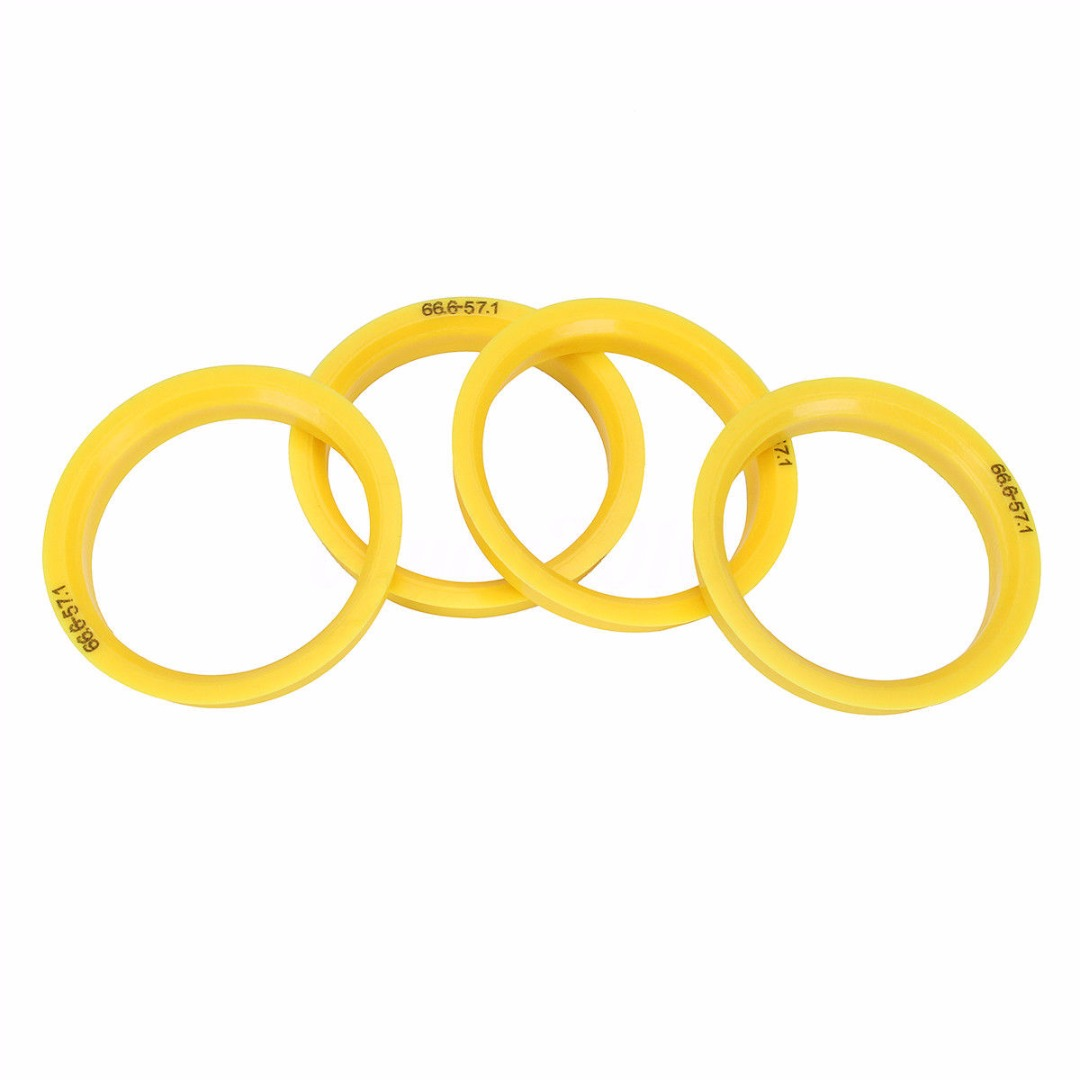 For Audi SKODA 4Pcs 66.6 To 57.1mm Car Wheel Center Collar Hub Centric Ring Durable Tire Accessories Hot Sale
