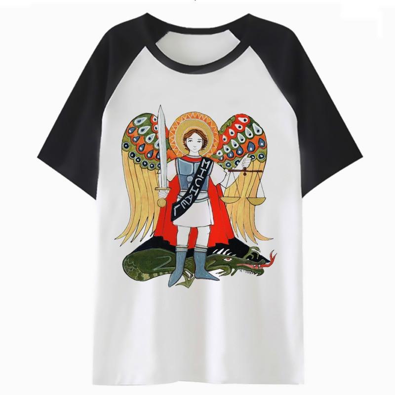 saint michael t shirt t-shirt tee male funny hop for men top tshirt clothing hip harajuku streetwear I4266