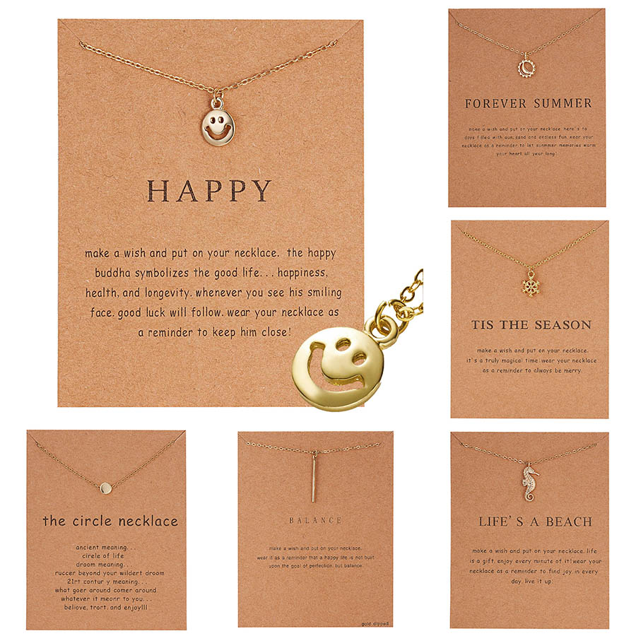 RINHOO New Golden Plated Happy Things Ballet Girl Alloy Clavicle Bones Pendant Short Necklace