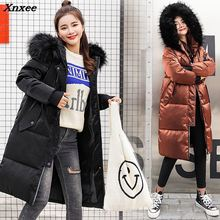 New Thick Warm Hooded Cotton Long Parka Plus Size Women Winter Coat Jacket 2018 Clothing For Mujer Feminine De Inverno Casaco стоимость