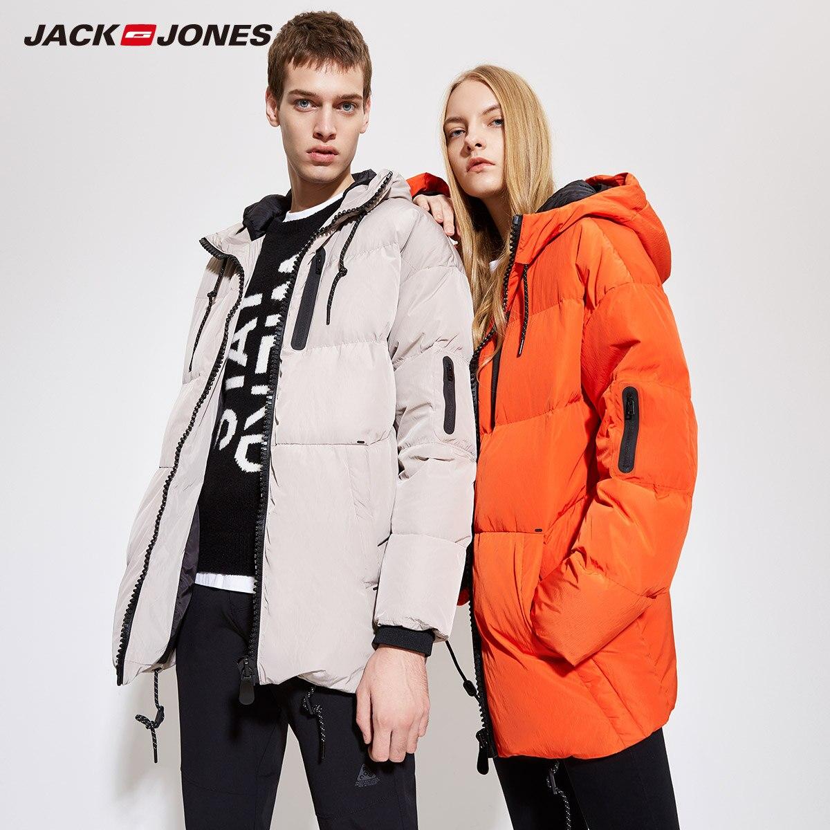 JackJones для мужчин зимние с капюшоном утка на открытом воздухе зимний мужской повседневное модные пуховые куртки пальто 2019 Фирменная Новин | ...