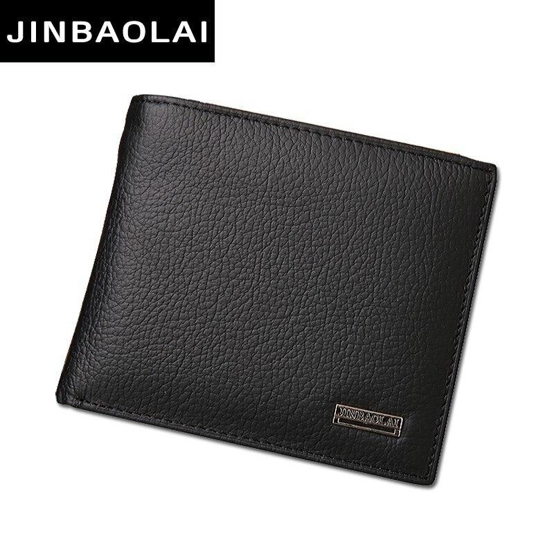 De Lujo 100% Cartera de cuero genuino de la moda corto Bifold hombres casuales sólida hombres billeteras con bolsillo de la moneda monederos hombre carteras