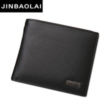 Luxury 100% Genuine Leather Wallet Fashion Short Bifold Men Wallet Casual Soild Men Wallets With Coin Pocket Purse Male Wallets