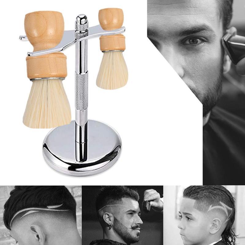 Detachable Men's Shaving Brushes Holder Double-headed Razor Stand Beard Shaving Holder Tool