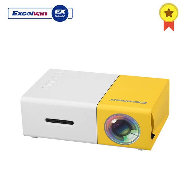 Excelvan YG300 Nhà Máy Chiếu Mini 320X240 P Hỗ Trợ 1080 P AV USB Thẻ SD Giao Diện HDMI Cho Trẻ Em chơi Giáo Dục Máy Chiếu Led
