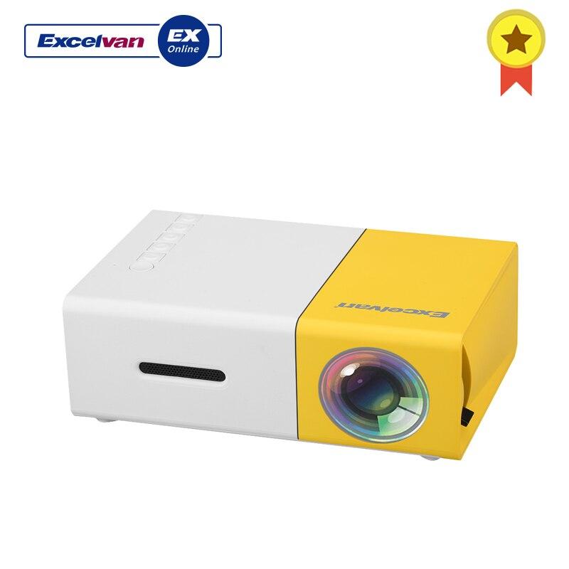 Excelvan YG300 maison Mini projecteur 320X240 P Support 1080 P AV USB carte SD Interface HDMI pour enfants jouer éducation Led projecteurs
