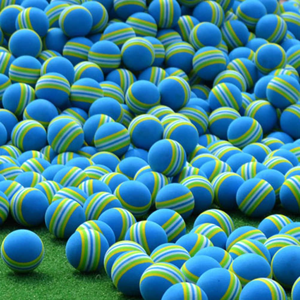 24 шт. 42 мм Радужный шарик эва пены для игры в гольф для тренировок в помещении мягкий тренировочный мяч для гольфа (синий)