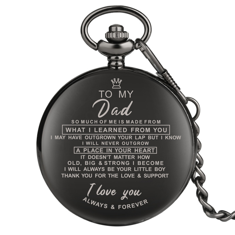 Significant Pocket Watches For Male Special Gift For Pocket Watch For Father To My Dad Series Pendant Watch With Necklace