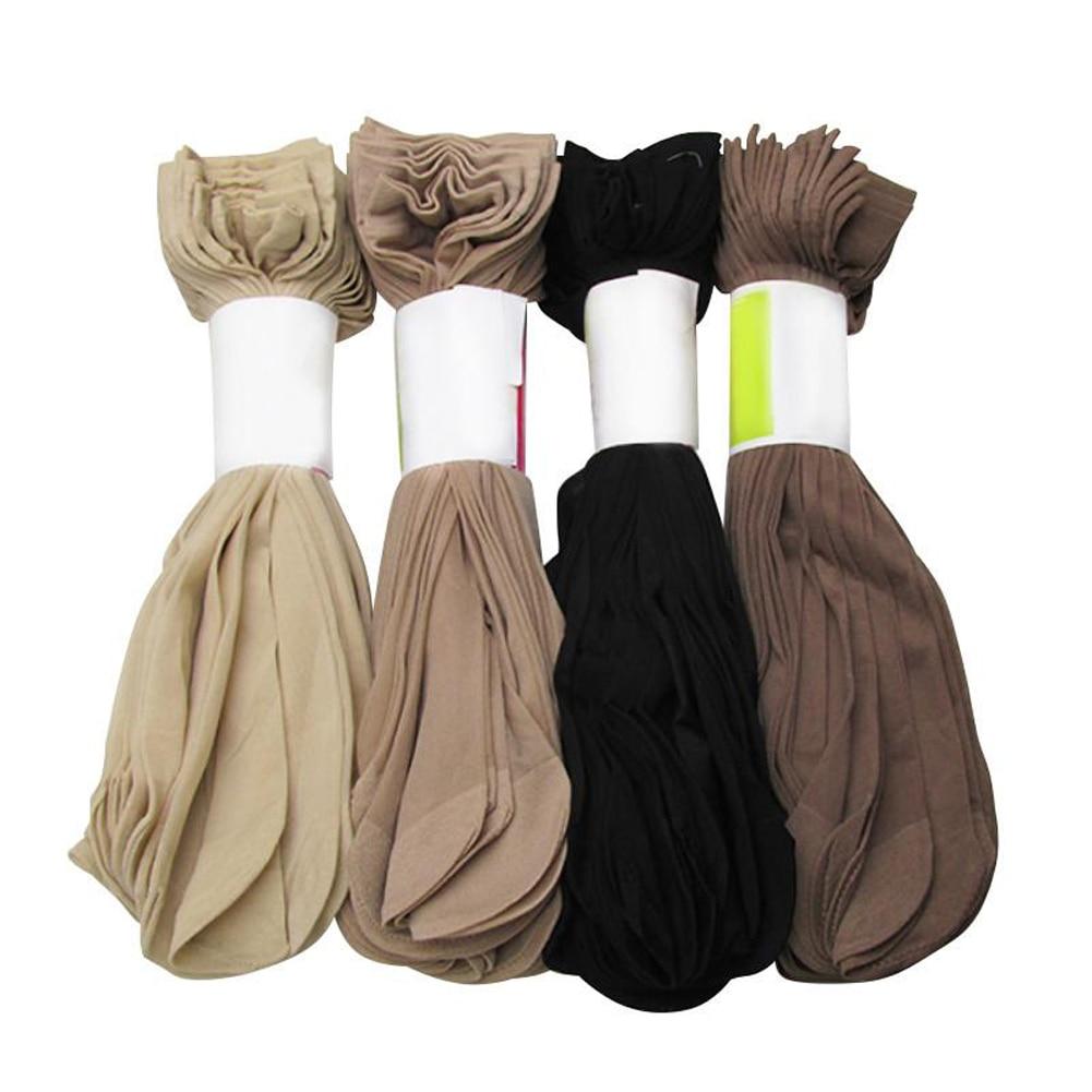 Hot Sale 20 Pieces High Quality Women Velvet Socks Female Socks Summer Thin Silk Transparent Ankle Sox Women Socks