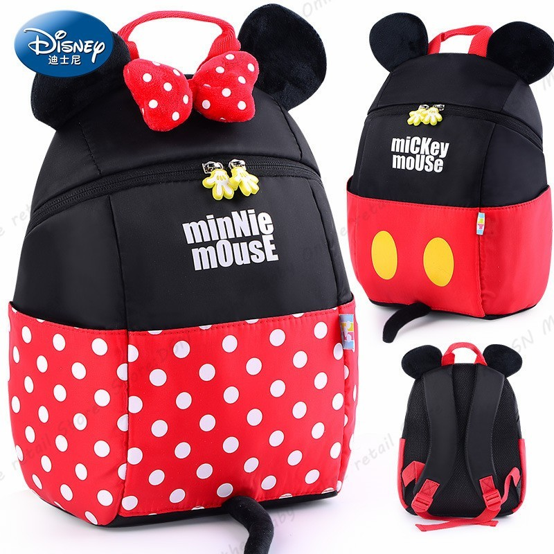 Disney Mickey Minnie Waterproof Orthopedic High Quality School Book Backpack Cartoon Ultralight Kids Large Capacity Bag