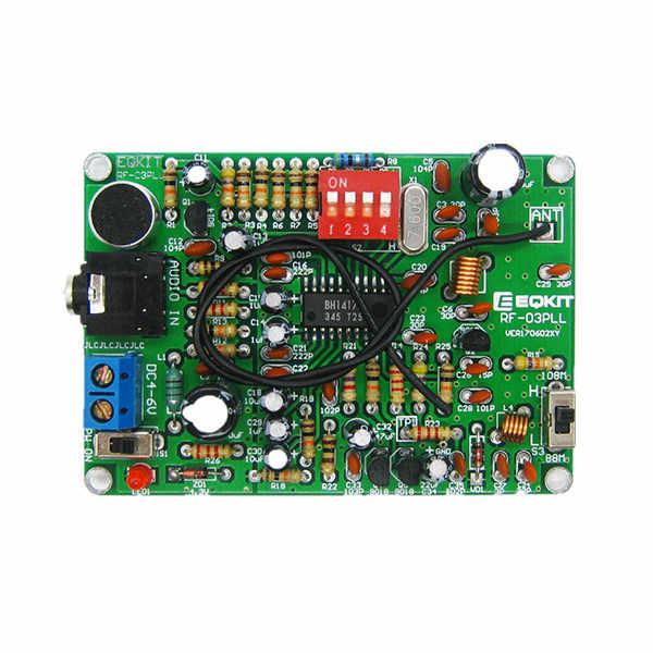 LEORY FM ステレオトランスミッターモジュール MP3 レコーダー DIY ラジオステーションキット
