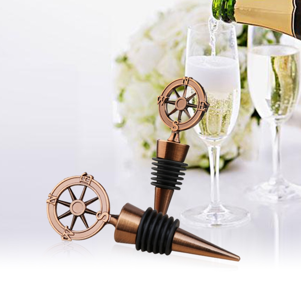 OurWarm Metal Compass Wine Bottle Stopper 125pcs