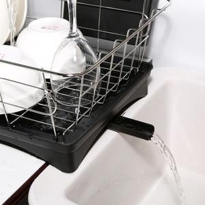 Image 5 - สแตนเลสสตีลจานDrainerตู้แร็คอบแห้ง 3 ชิ้นชุดถอดRust PROOFภาชนะHoldeสำหรับเคาน์เตอร์ครัวStorage rack