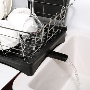 Image 5 - Stainless Steel Dish Drainer Drying Rack With 3 Piece Set Removable Rust Proof Utensil Holde For Kitchen Counter Storage Rack