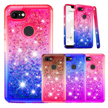 Glitter Silicon Case For Google Pixel 3 XL Colored TPU Cover Pixel3XL Liquid Dynamic Quicksand Pixel3