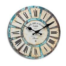 Reloj de pared redondo Vintage, reloj moderno de cuarzo, Relojes Retro, reloj de pared, envío directo, decoración para el hogar, sala de estar